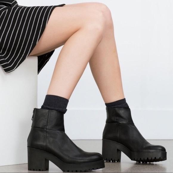 Zara Shoes   Zara Platform Ankle Boots